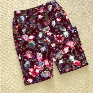 J. Crew Floral Pants - Size 4